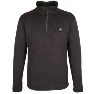 Pull tricoté en polaire Gill - Noir