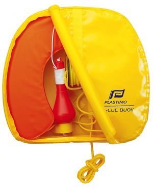Bouée Rescue Buoy orange avec feu à retournement Plastimo