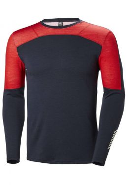 Lifa manches longues Merino Crew homme - Rouge