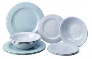 Set vaisselle 12 pièces Atoll Couleur Mer