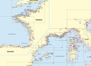 Cartes marine Méditerranée et Corse