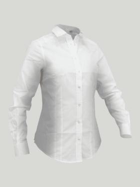 Chemise manches longues Cheval femme SLAM - Blanc