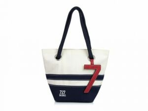 Sac à main Légende Striped 727 Sailbags bleu marine face