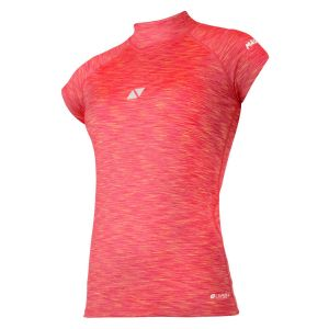 T-Shirt Lycra Manches Courtes Cube Femme Magic Marine - rouge