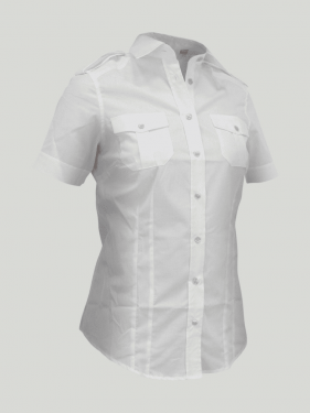 Chemise manches courtes Bell femme SLAM - blanc