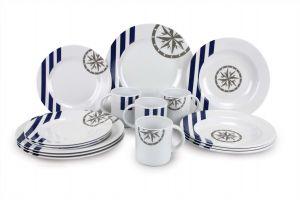 Set Vaisselle 16 Pièces Marina Couleur Mer